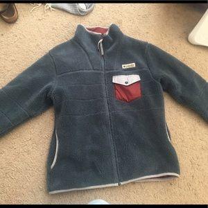 Fluffy Columbia blue jacket